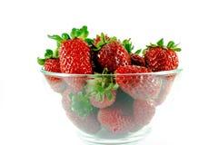 Bacia com morangos Imagem de Stock