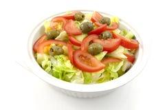 Bacia com salada fresca fotografia de stock