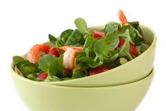 Salada com camarões Imagens de Stock Royalty Free