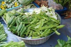 Bacia com vegetais asiáticos Fotografia de Stock