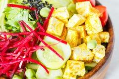 Bacia da Buda com tofu, massa do abobrinha Imagens de Stock