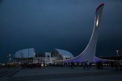 Bacia da chama olímpica em Sochi Fotografia de Stock