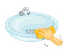 Bacia da limpeza Imagens de Stock