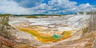 Bacia da porcelana no parque nacional de Yellowstone, EUA foto de stock royalty free