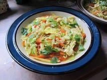 Bacia da sopa vegetal saudável 4 dos Ramen Imagem de Stock Royalty Free