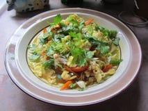 Bacia da sopa vegetal saudável 5 dos Ramen Fotos de Stock Royalty Free