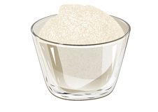 Bacia de açúcar ilustração do vetor