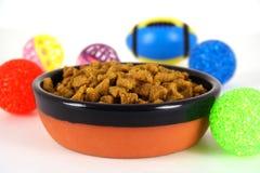 Bacia de alimento de animal de estimação Imagens de Stock