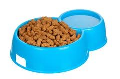 Bacia de alimento de cão Fotos de Stock