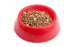 Bacia de alimento de gato Foto de Stock Royalty Free
