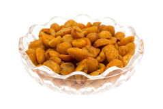 Bacia de amendoins quentes e picantes Imagem de Stock Royalty Free