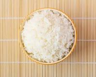 Bacia de arroz cozinhado Fotografia de Stock Royalty Free