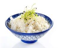 Bacia de arroz fervido fotografia de stock royalty free
