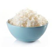 Bacia de arroz fervido imagem de stock