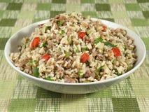 Bacia de arroz sujo Fotos de Stock Royalty Free