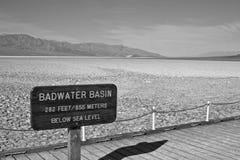 Bacia de Badwater em Death Valley Foto de Stock