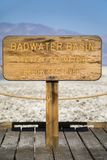Bacia de Badwater em Death Valley Fotografia de Stock
