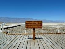 Bacia de Badwater, o Vale da Morte Imagens de Stock Royalty Free