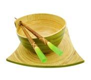 Bacia de bambu fotografia de stock royalty free