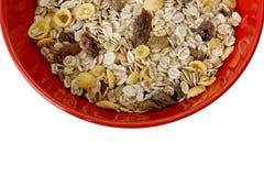 Bacia de cereal com raisins Fotografia de Stock Royalty Free