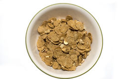 Bacia de cereal no branco Imagens de Stock