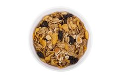 Bacia de cereal de pequeno almoço imagem de stock royalty free