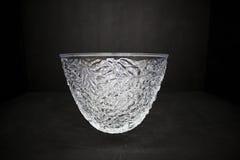 Bacia de cristal vazia fina Imagens de Stock