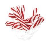 Bacia de doces de peppermint Imagens de Stock Royalty Free