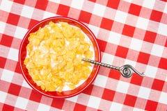 Bacia de flocos de milho Fotos de Stock