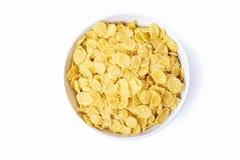 Bacia de flocos de milho Fotografia de Stock Royalty Free