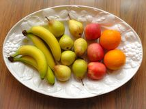 Bacia de fruto Imagens de Stock