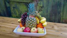 Bacia de frutos Fotografia de Stock