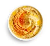 Bacia de hummus Fotografia de Stock Royalty Free