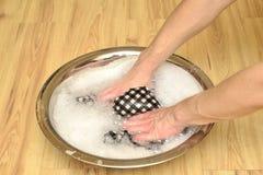 Bacia de lavagem da mão Fotos de Stock