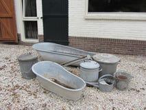 Bacia de lavagem galvanizada Fotografia de Stock Royalty Free