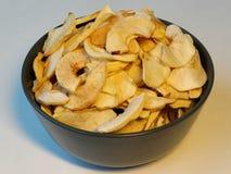 Bacia de maçãs secadas Imagens de Stock Royalty Free