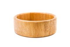 Bacia de madeira Fotos de Stock Royalty Free