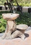 Bacia de madeira imagens de stock royalty free