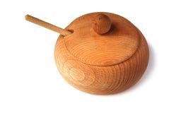 Bacia de madeira Fotografia de Stock Royalty Free