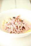 Bacia de massa com salada Imagem de Stock Royalty Free