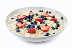 Bacia de oatmeal com bagas Imagens de Stock