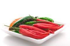 Bacia de pimenta de pimentão madura do colorfull fotografia de stock royalty free