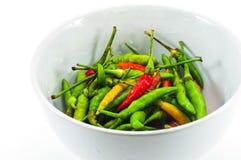 Bacia de pimentas de pimentão fotografia de stock