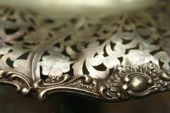 Bacia de prata bonita Foto de Stock Royalty Free