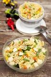Bacia de salada de massa Imagem de Stock