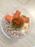 Bacia de salada para o dieter imagem de stock