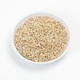 Bacia de sementes de sésamo Fotografia de Stock Royalty Free