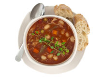 Bacia de sopa Fotos de Stock Royalty Free