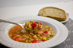Bacia de sopa Imagens de Stock Royalty Free