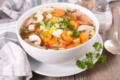 Bacia de sopa Foto de Stock Royalty Free